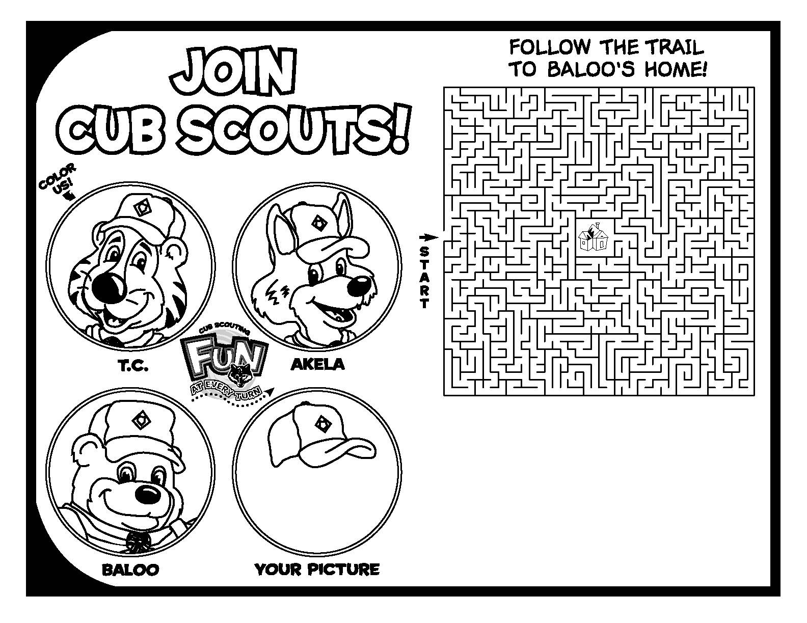 Tiger Cub Scout Coloring Pages - Democraciaejustica