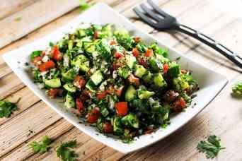 Meditterranean Shirazi Salad | Scrambled Chefs-2