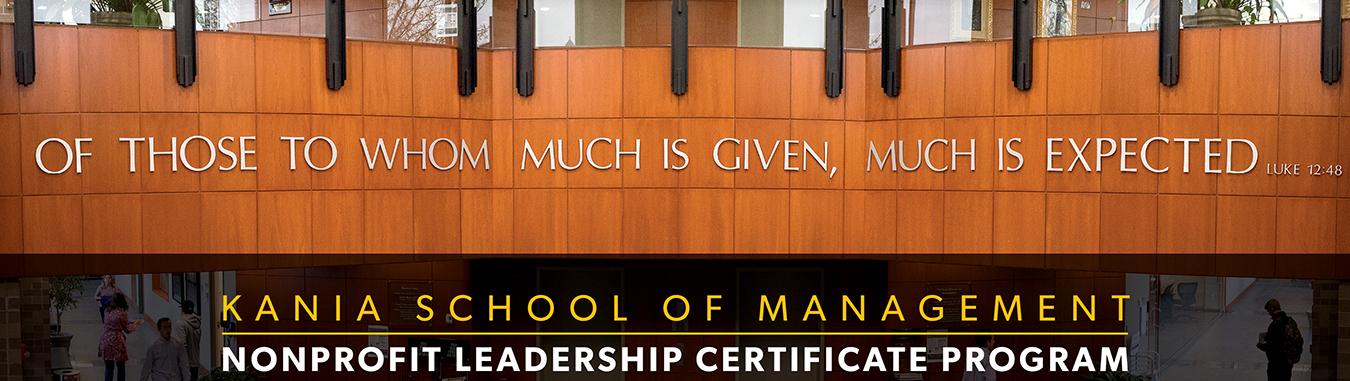 Nonprofit Leadership Certificate Program Accounting Department KSOM