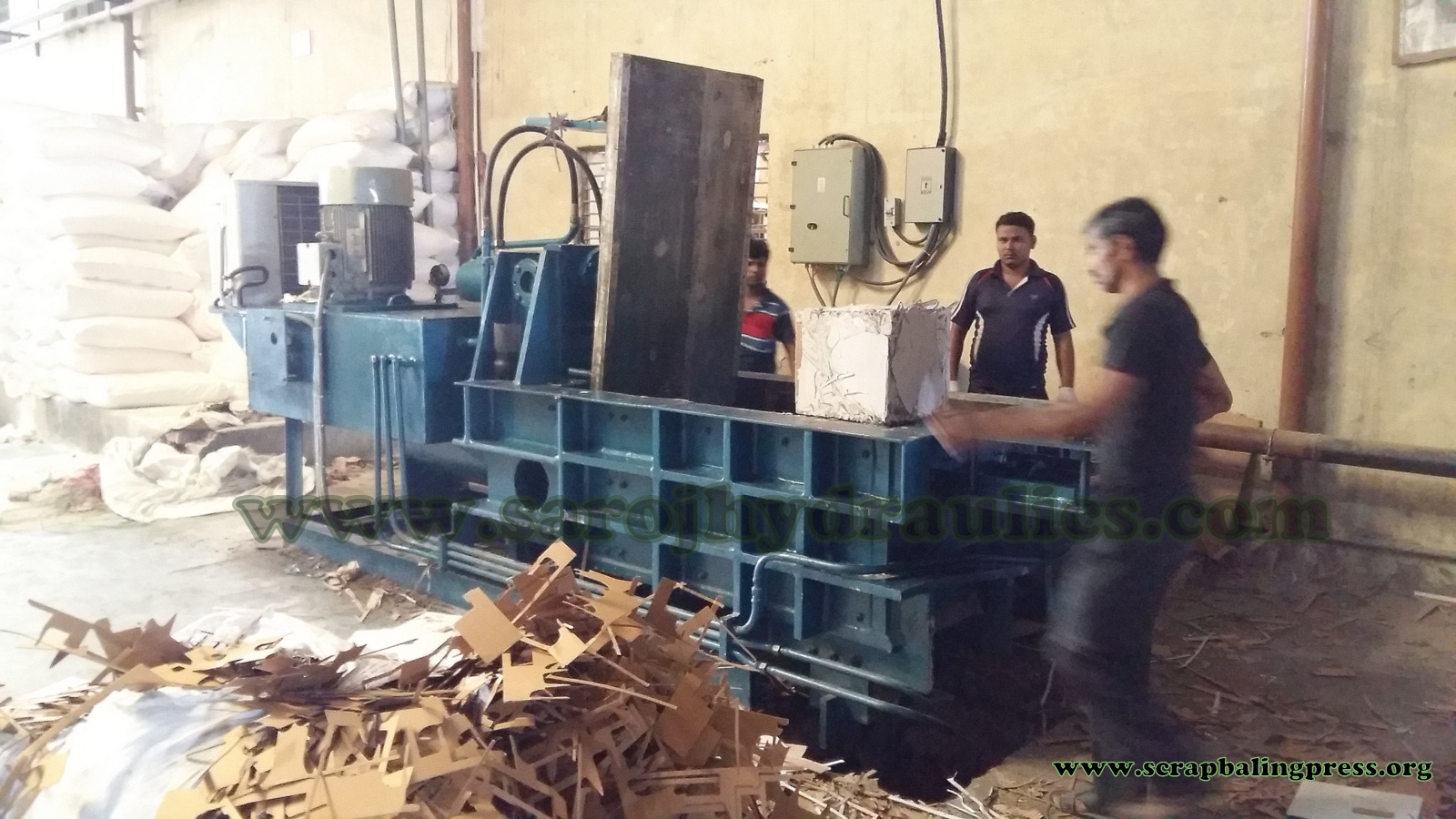 hydraulic cardboard baling press machine