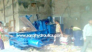 hydraulic carton scrap baling machine