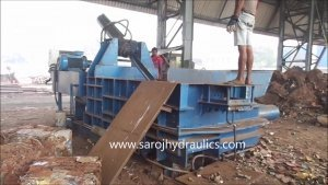 hydraulic scrap compression machine