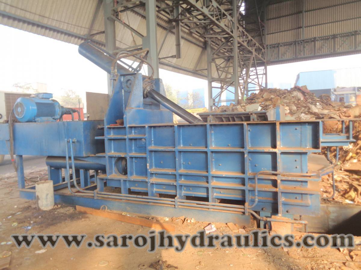 metal baling press machine