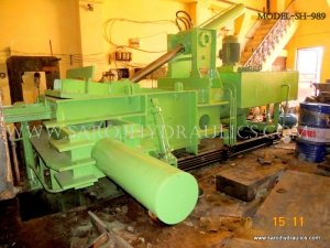 horizontal paper bale press machine