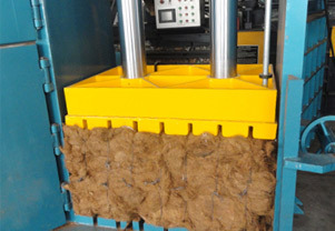 jute fibre baling press machine