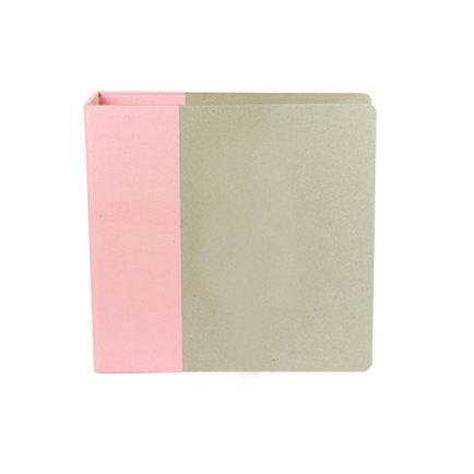American Crafts - Modern Album - Customizable 85x11 D-Ring Album - Light  Pink