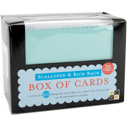 Die Cuts with a View - Box of Cards - Scalloped and Rick Rack Cards