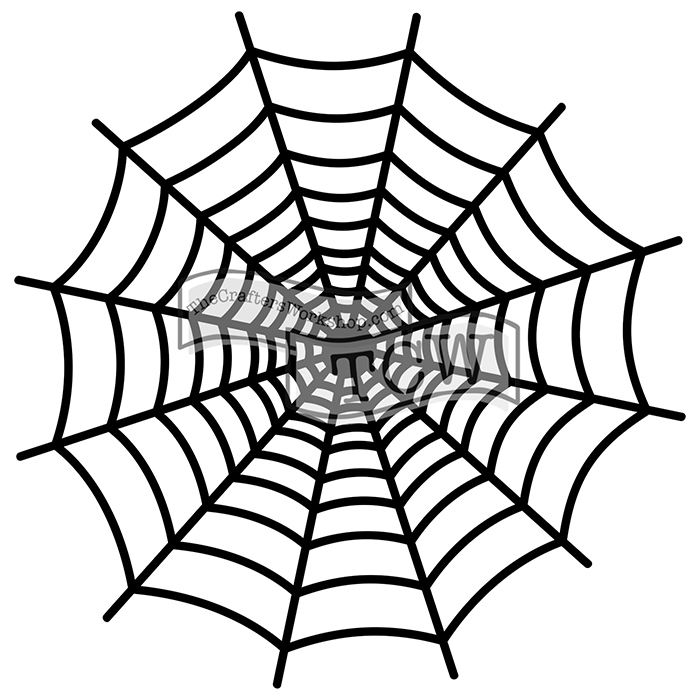 The Crafters Workshop Mini Spiderweb 6 x 6 Doodling Templates