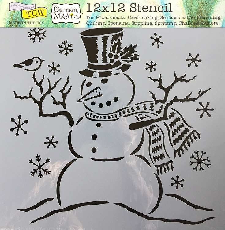 The Crafters Workshop Mr Snowman 12x12 Doodling Templates