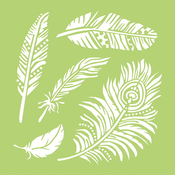 Kaisercraft Feathers 12 x 12 Stencils Template