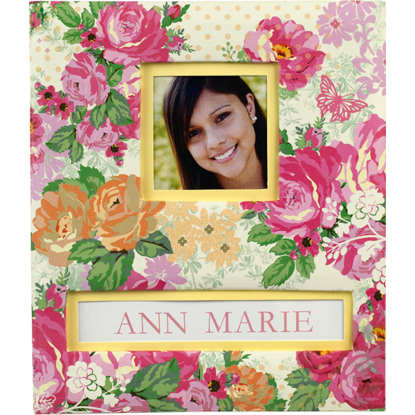 K and Company - Frame a Name Scrapbook Album - 85 x 11 - Pink