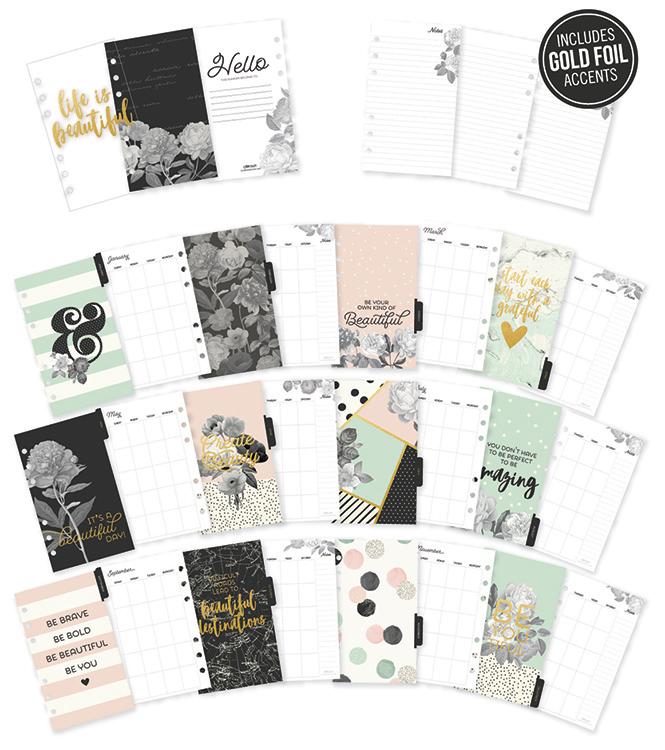 Simple Stories Carpe Diem Beautiful Monthly Personal Planner Inserts