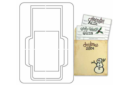 Provo Craft - Coluzzle - Clear Plastic Cutting Template - Library