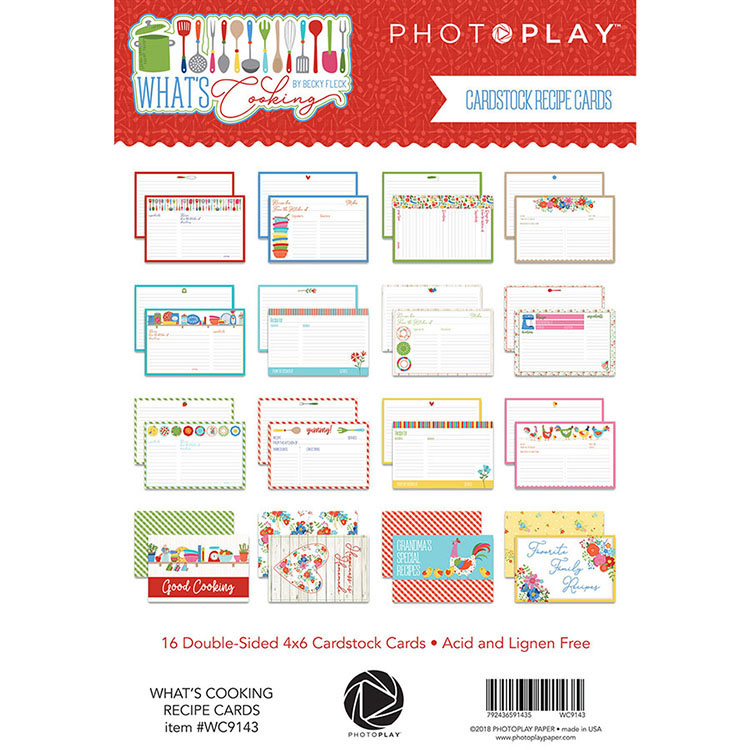 Photo Play Paper Whats Cooking Recipe Cards