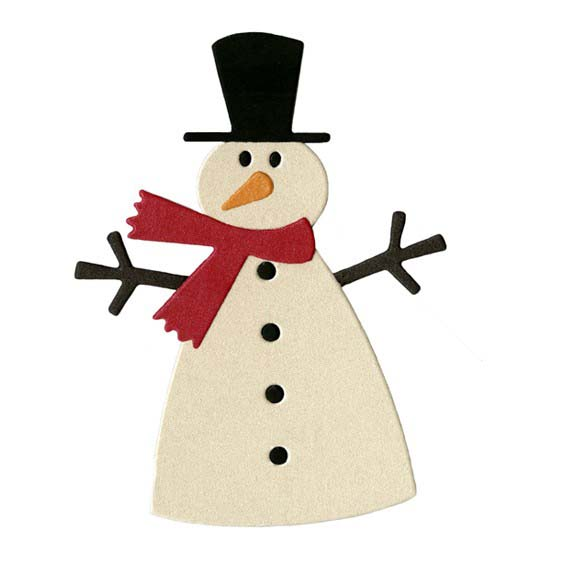 Lifestyle Crafts - Die Cutting Template - Christmas - Snowman 2 - snowman template