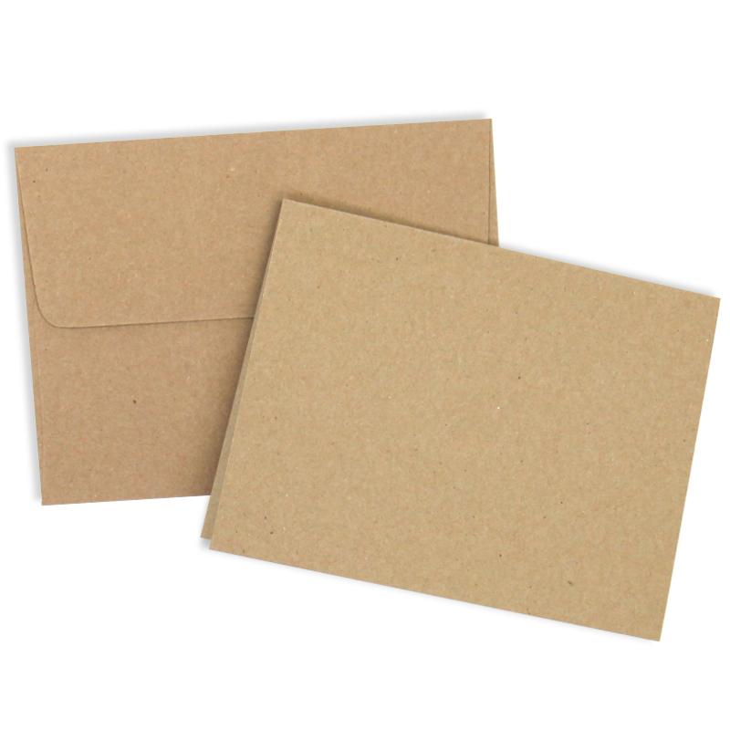 Kraft Cards and Envelopes - 25 Pack - envelope a2