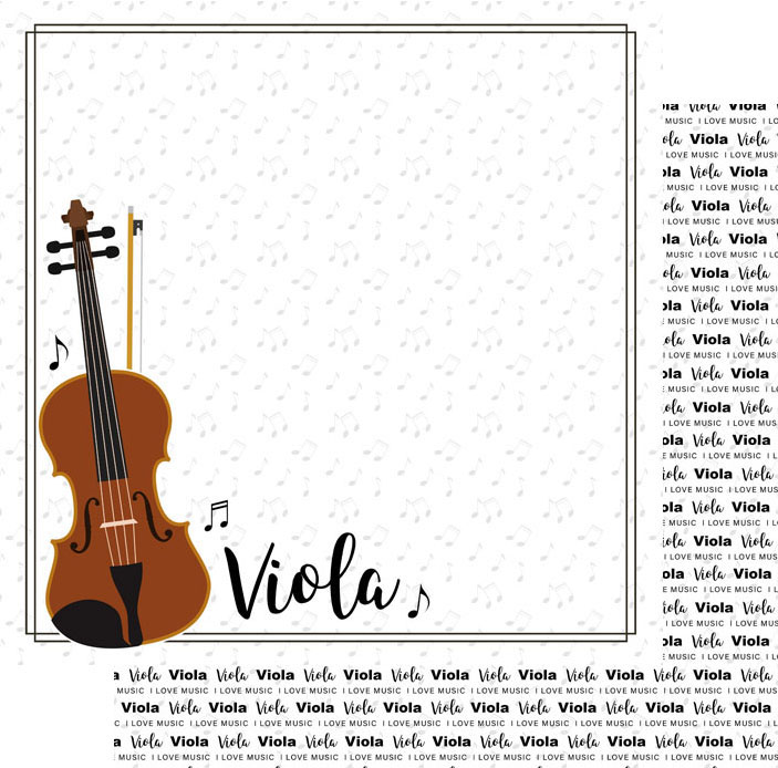 Scrapbook Customs Music Notes Viola Notes Paper