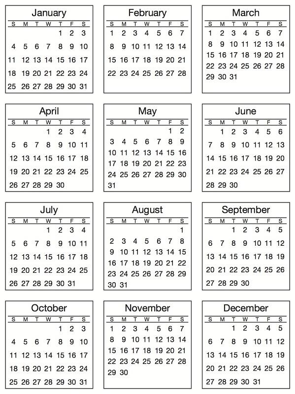 SRM Press Inc 2015 Mini Calendar Standard Stickers