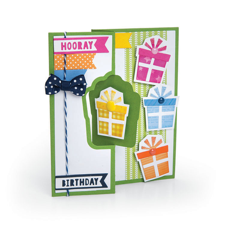 Sizzix More Cards That Wow Gift Flip-its Insert Framelits Die