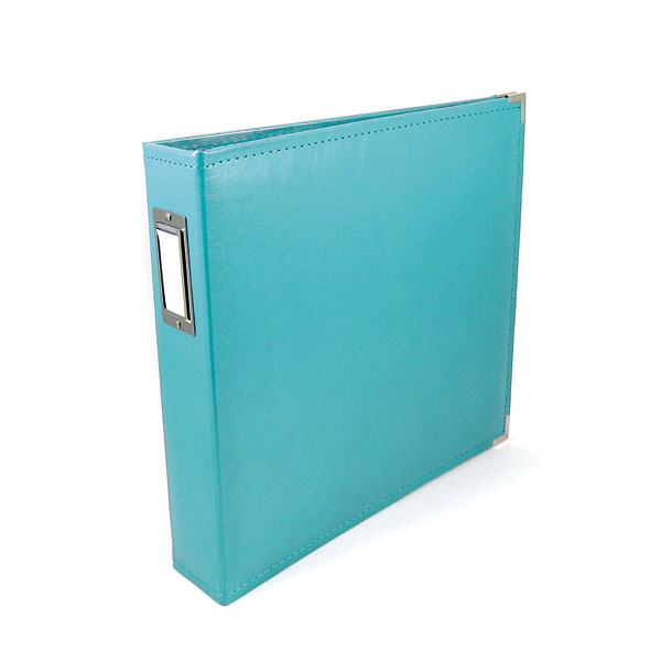 We R Memory Keepers Aqua 85 x 11 Leather Album