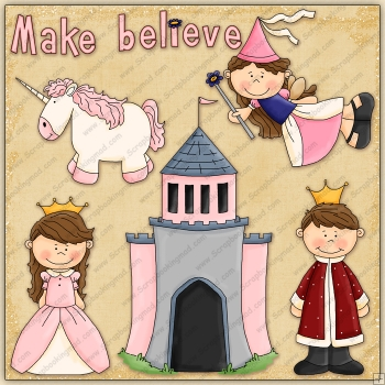 Make Believe ClipArt Graphic Collection - £067  Scrapbookingmad