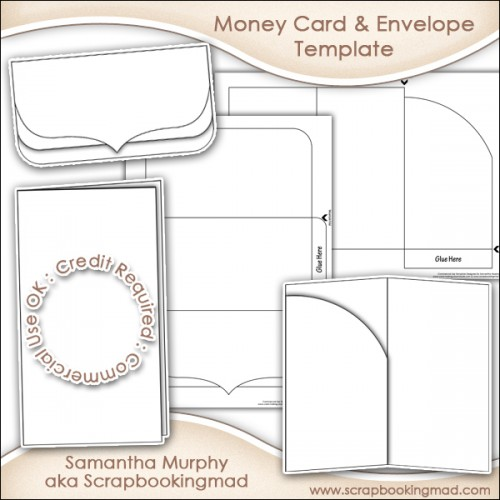 Money Gift Card  Envelope Template Commercial Use - £350