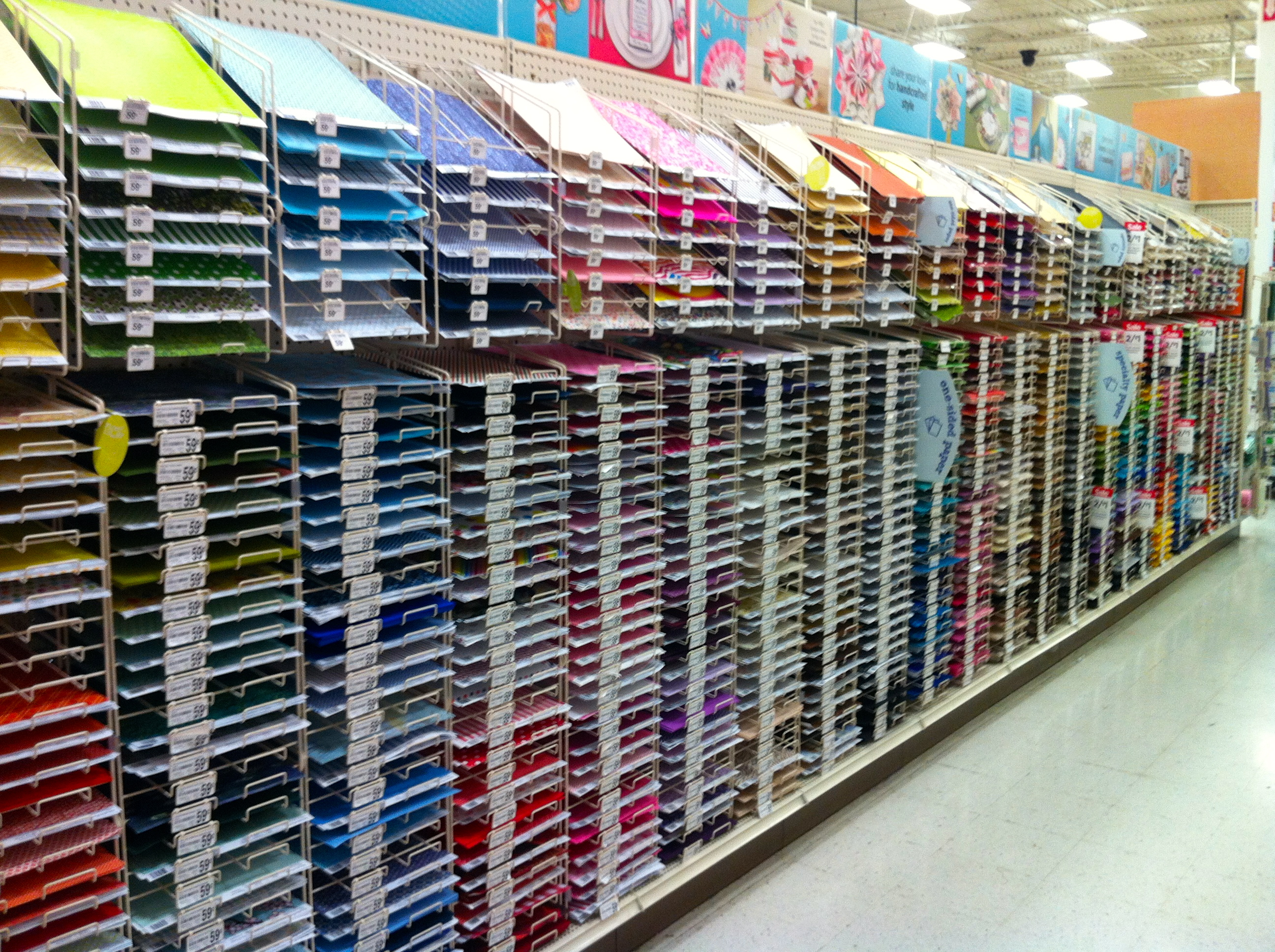 Scrapbook paper racks clearance they even have a scrapbooking sign not at my store