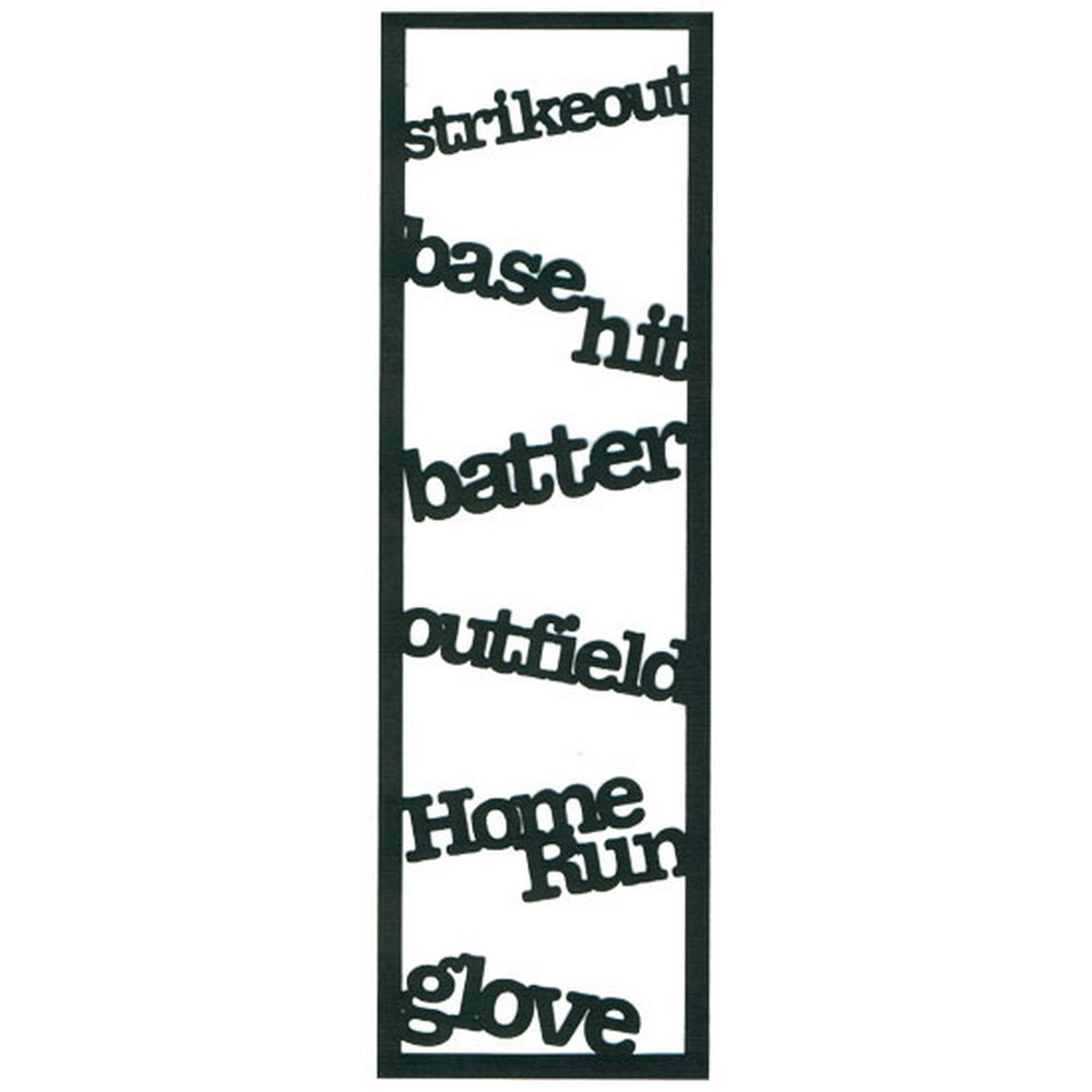 RBS - Border - Baseball Words  Scrappin Sports Stuff