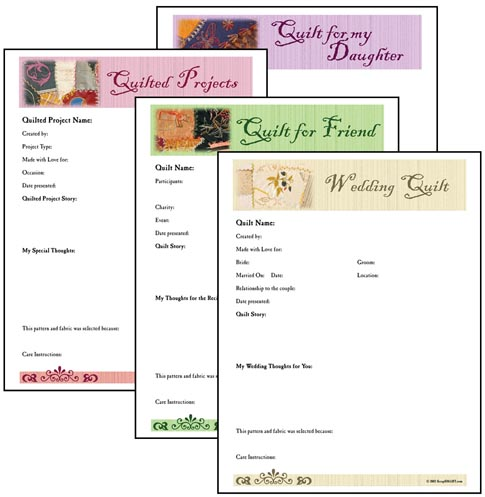 Quilting Journal Template ~ cafca info for