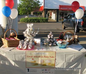 Great American Bake Sale table