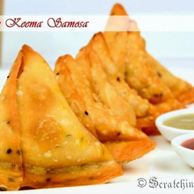 Mangsher Singara or Bengali Mutton Keema Samosa