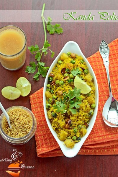 Batata & Kanda Poha: Flattened Rice with Potato & Onion