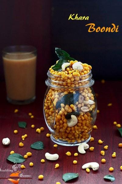 Spicy Khara Boondi or Bengali Jhal Bonde: Popular Indian Snack