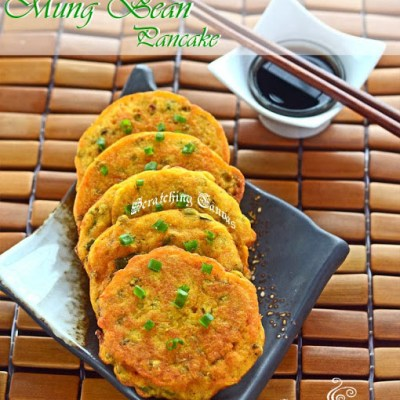 Korean Mung Bean Savory Pancake : Nokdujeon or Bindaetteok