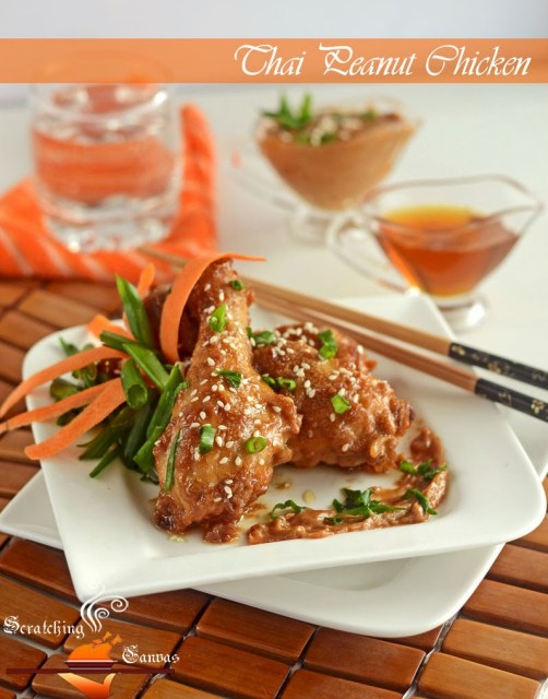 Baked Thai Style Chicken with Peanut Sauce