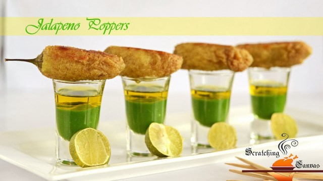 Jalapeno Poppers with Mole Sauce