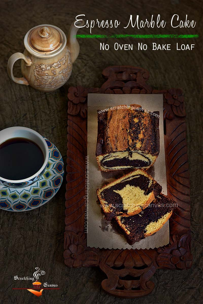 Espresso Chocolate Marble Cake | Chocolate Swirl Bread on stove top