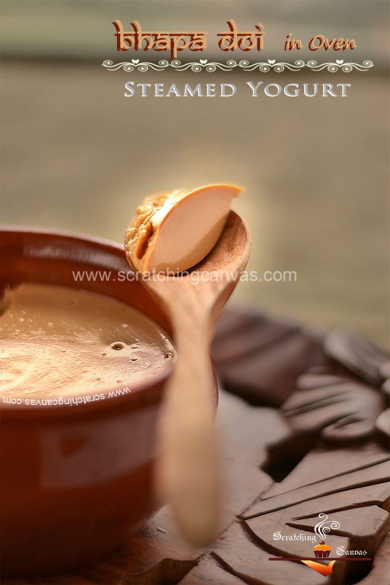 Bhapa Mishti Doi Food Photography Styling
