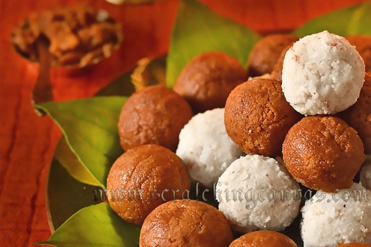 Narkel Naru   Narkol Naru   Coconut Laddu   Janmashtami Recipe