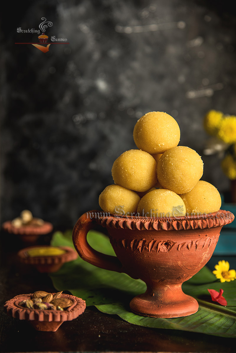 Moong Dal Ladoo Diwali Sweet Photography Styling