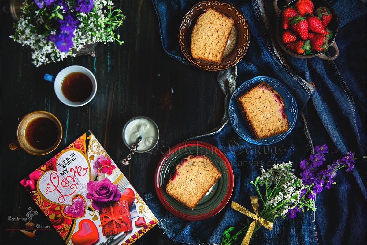 Strawberry Cake Still Life Photography Styling