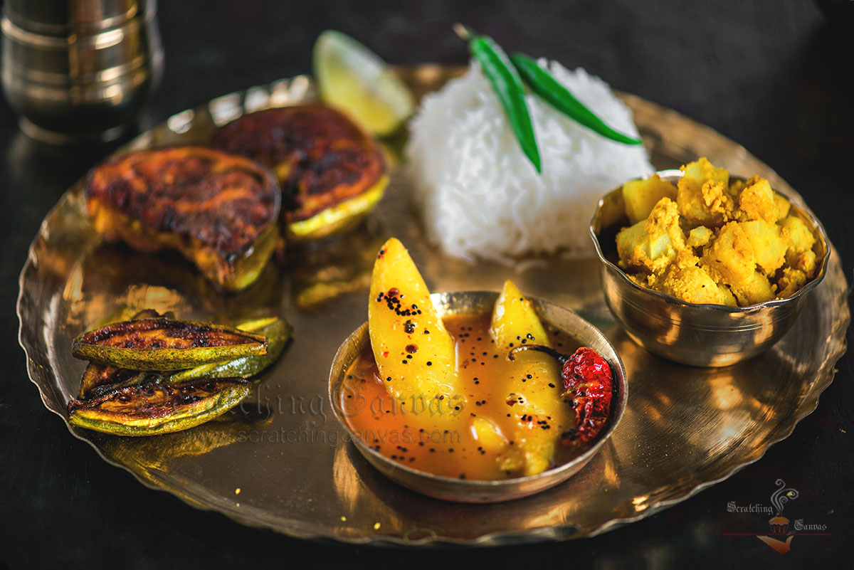 Bengali Thali Food Photography Styling
