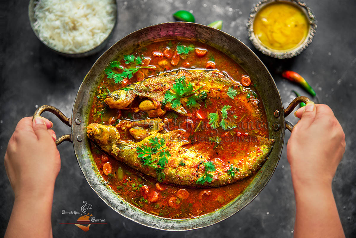 Bengali Fish Curry Food Photography Styling