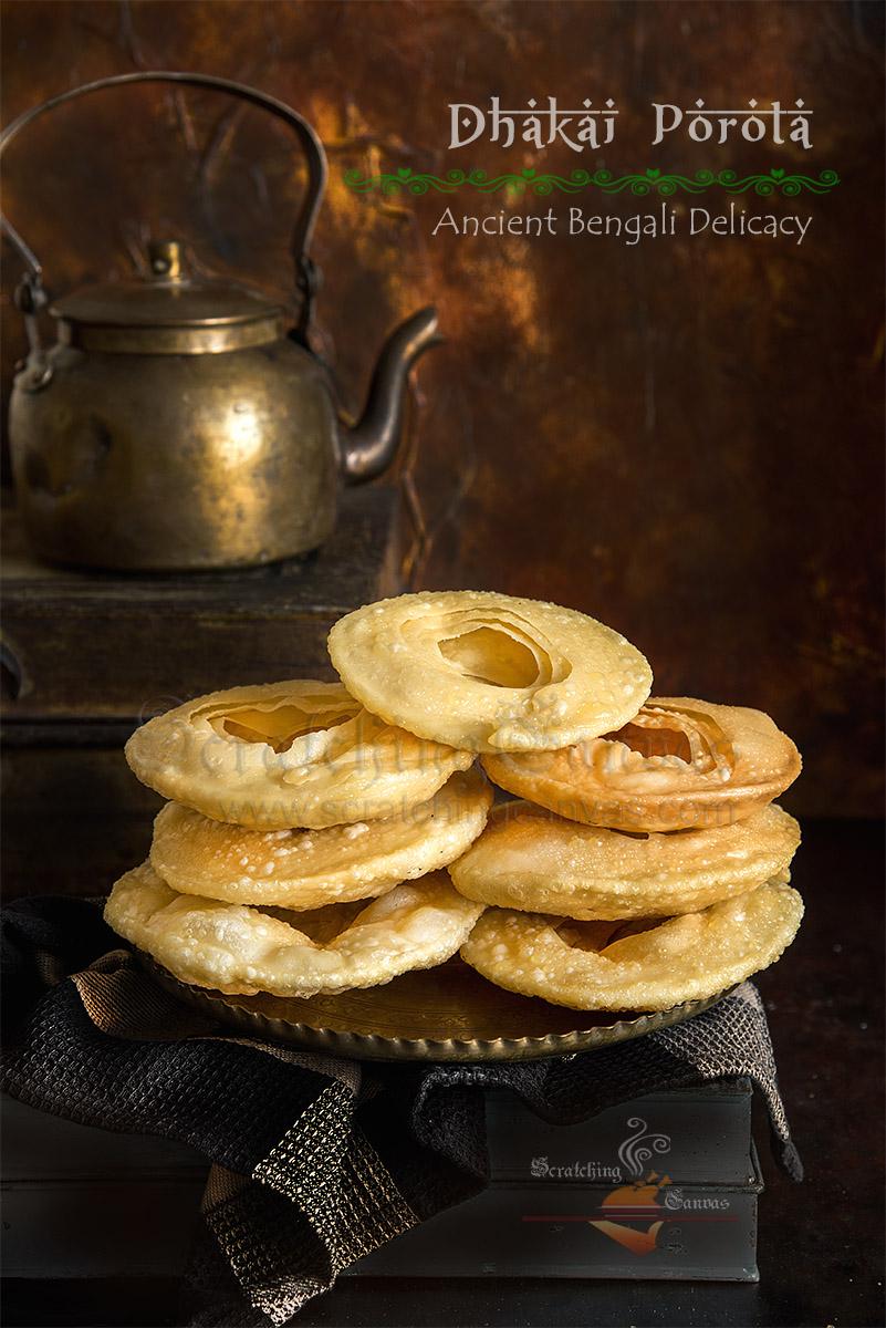 Original Dhakai Paratha Bengali Food Photography Styling