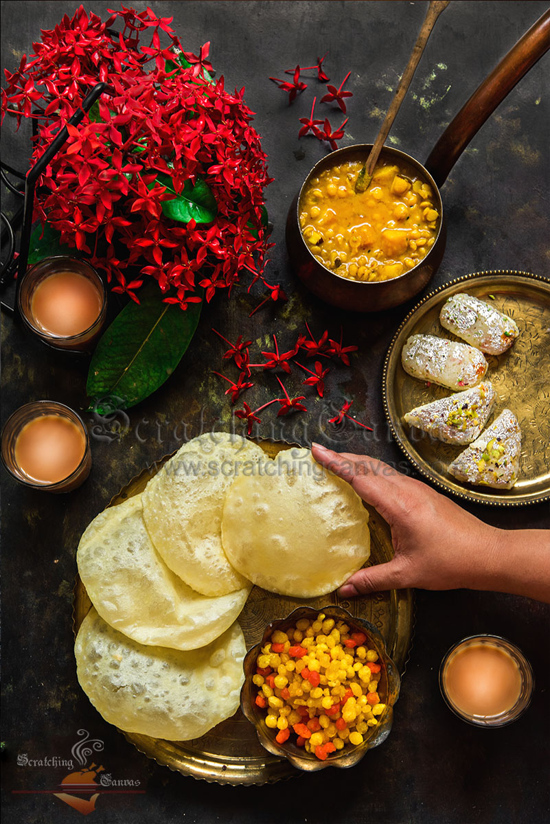 Bengali traditional food photography styling