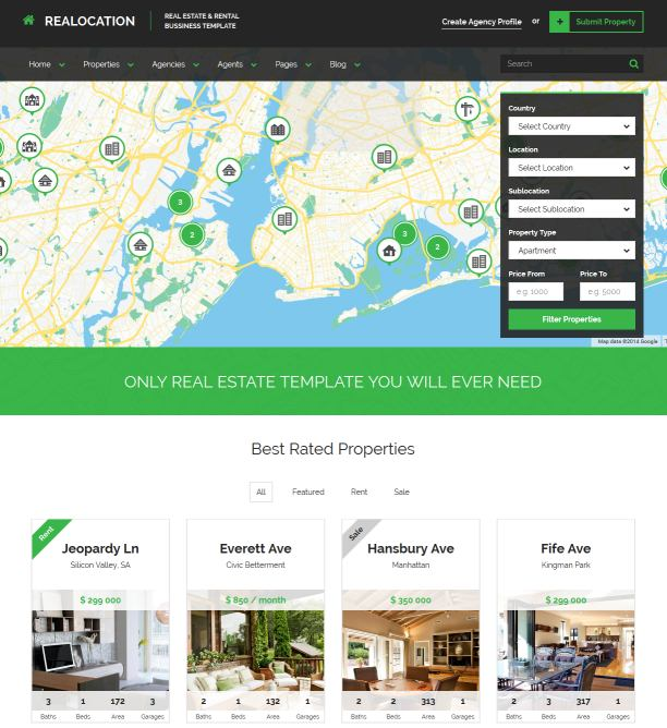 Top 20+ HTML Templates For Real Estate Websites