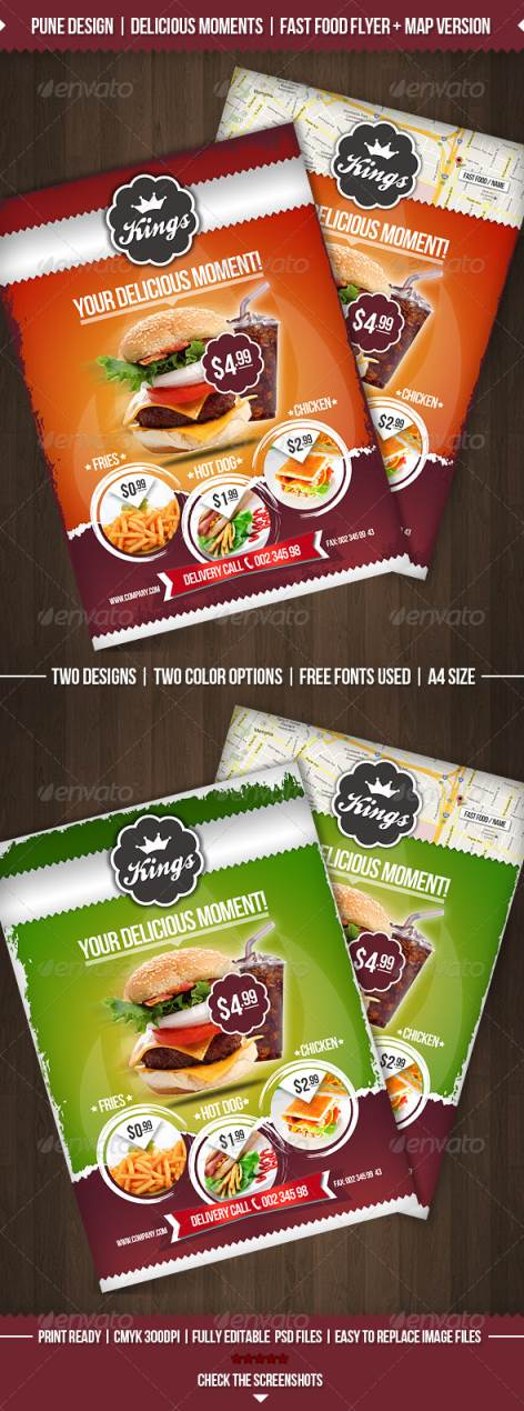 45+ Best Restaurant and Food Flyer Templates - food flyer template