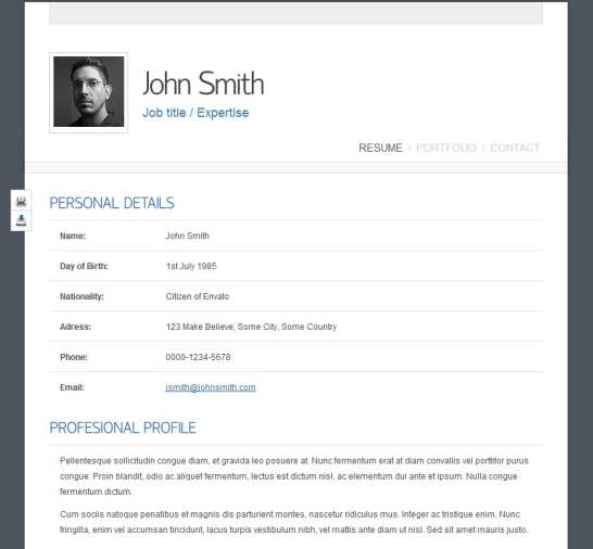 Free Resume Examples Samples In Various Online Formats Top 40 Professional Online Cv And Resume Templates Web