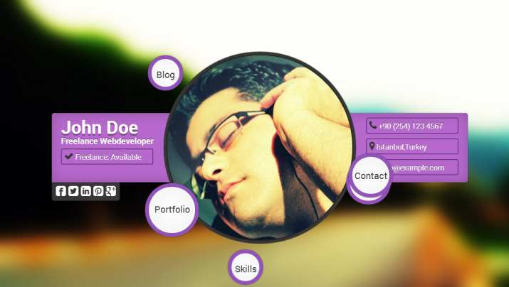 Top 40 Professional Online CV  Resume Templates - personal resume website template
