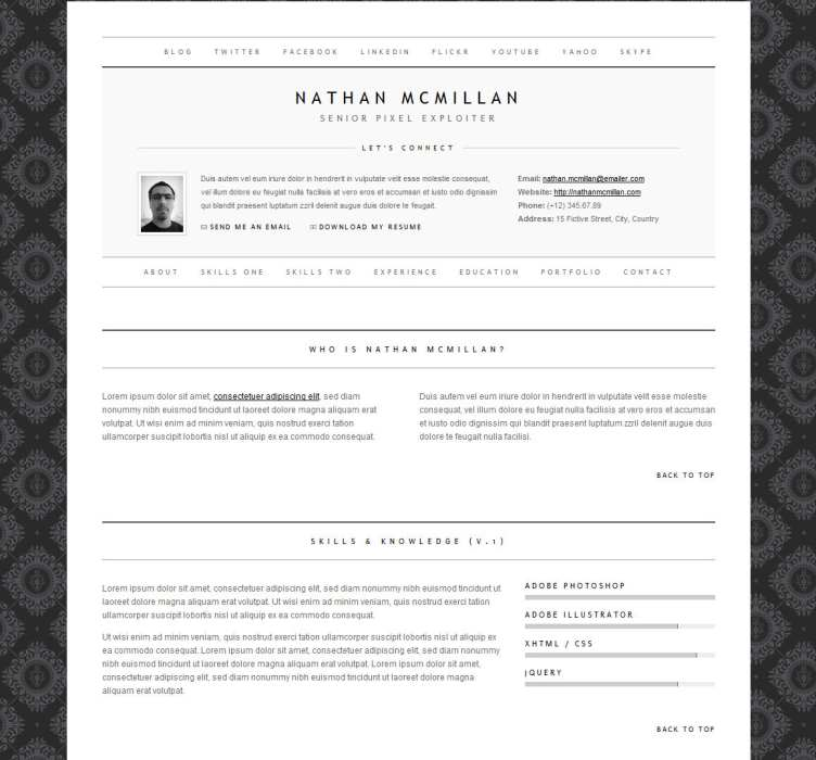 Top 40 Professional Online CV  Resume Templates